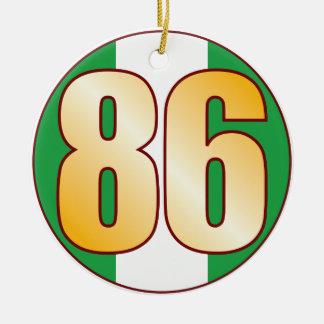 86 NIGERIA Gold Ceramic Ornament