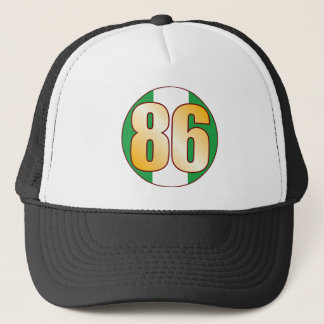 86 NIGERIA Gold Trucker Hat