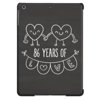 86.o Corazones de la tiza del regalo del Carcasa iPad Air