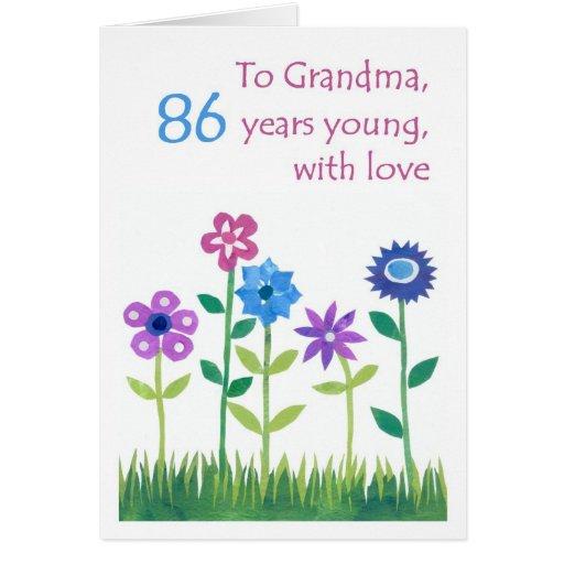 86.o Tarjeta de cumpleaños para una abuela -