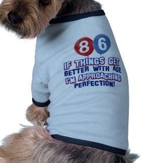 86.os diseños años del cumpleaños prenda mascota
