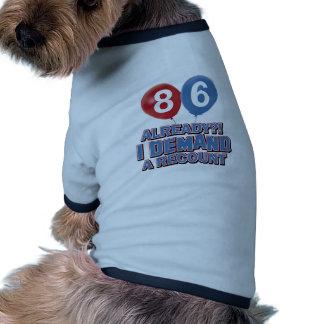 86.os diseños del cumpleaños del año ropa para mascota