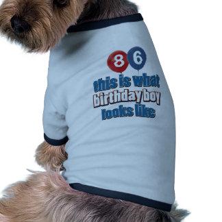 86.os diseños del cumpleaños del año camisetas de perrito