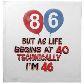 86.os diseños del cumpleaños servilleta de papel