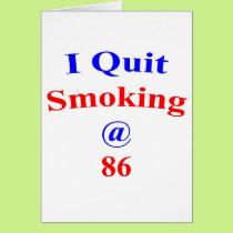 86 Quit Smoking Card
