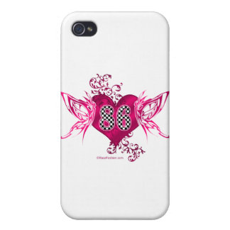 86 racing number butterflies iPhone 4/4S covers