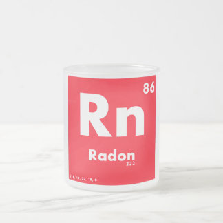 86 Radon | Periodic Table of Elements Frosted Glass Coffee Mug