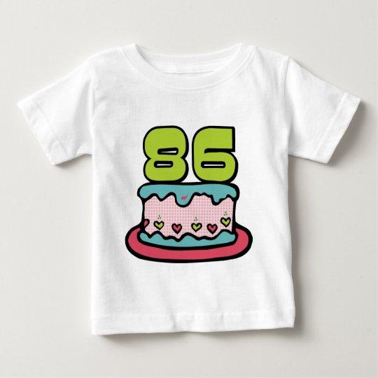 86 Year Old Birthday Cake Baby T-Shirt