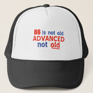 86 year old birthday designs trucker hat