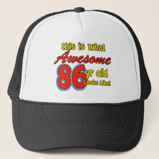 86 year old designs trucker hat