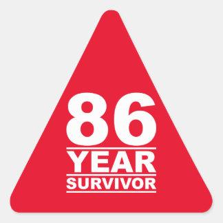 86 year survivor triangle sticker
