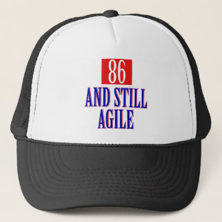 86 years birthday designs trucker hat