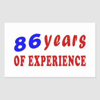 86 years of experience sticker