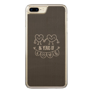 86th Anniversary Chalk Hearts Carved iPhone 8 Plus/7 Plus Case