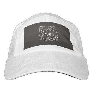 86th Anniversary Gift Chalk Hearts Hat