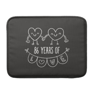 86th Anniversary Gift Chalk Hearts MacBook Air Sleeve
