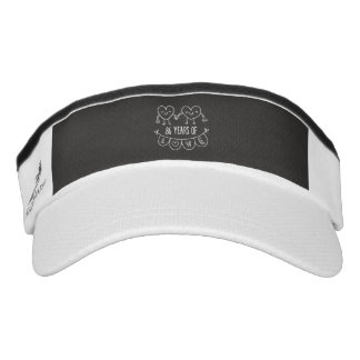 86th Anniversary Gift Chalk Hearts Visor