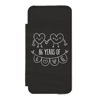 86th Anniversary Gift Chalk Hearts Wallet Case For iPhone SE/5/5s