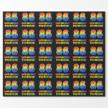 [ Thumbnail: 86th Birthday: Bold, Fun, Simple, Rainbow 86 Wrapping Paper ]
