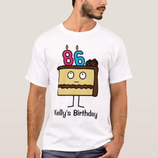 86th Birthday Cake with Candles T-Shirt