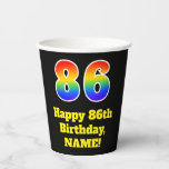 [ Thumbnail: 86th Birthday: Colorful, Fun, Exciting, Rainbow 86 ]