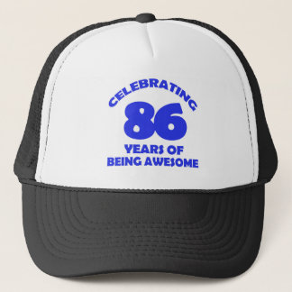 86TH birthday  designs Trucker Hat