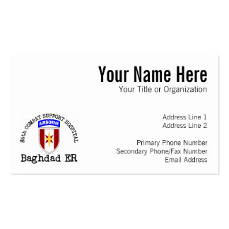 86th CSH Baghadad ER Double-Sided Standard Business Cards (Pack Of 100)