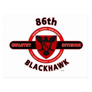 "86TH INFANTRY DIVISION ""BLACKHAWK"" DIVISION POSTCARD"