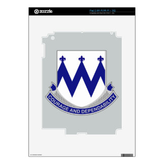 86th Infantry Regiment - Courage and Dependability Decals For iPad 2