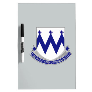 86th Infantry Regiment - Courage and Dependability Dry-Erase Board