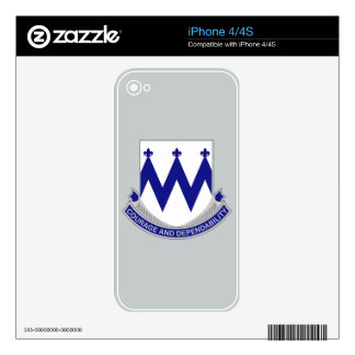 86th Infantry Regiment - Courage and Dependability iPhone 4S Skin