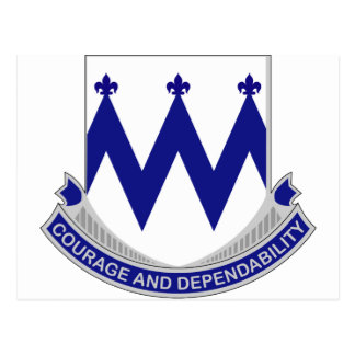 86th Infantry Regiment - Courage and Dependability Postcard