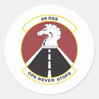 86th OSS Classic Round Sticker