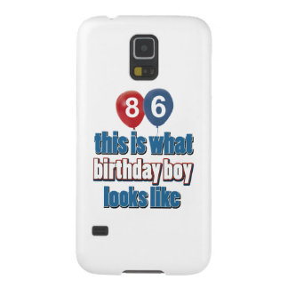 86th year birthday designs galaxy s5 case