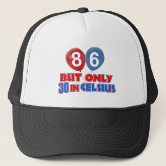 86th year birthday designs trucker hat