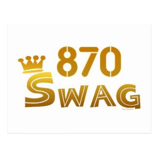 870 Arkansas Swag Postcard