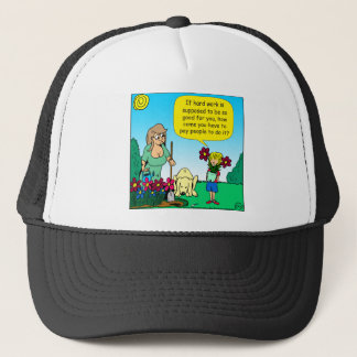 871 hard work is good for you cartoon trucker hat