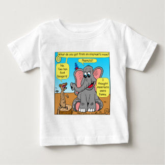 872 elephants and meerkat nose cartoon baby T-Shirt
