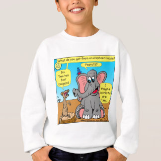 872 elephants and meerkat nose cartoon sweatshirt