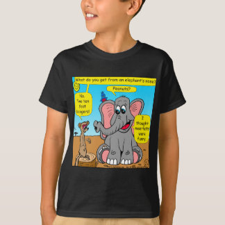 872 elephants and meerkat nose cartoon T-Shirt
