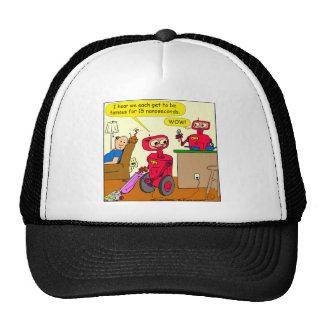 875 15 nano seconds robot cartoon trucker hat