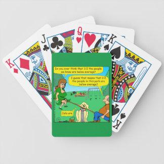 876 Half below average couple cartoon Bicycle Playing Cards