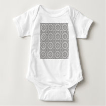 8773Grey Pattern Baby Bodysuit