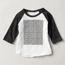 8773Grey Pattern Baby T-Shirt