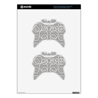 8773Grey Pattern Xbox 360 Controller Skin