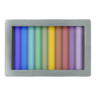 8774-coloured-pencils-2-vector RAINBOW COLORFUL PE Rectangular Belt Buckles