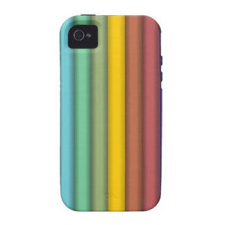 8774-coloured-pencils-2-vector RAINBOW COLORFUL PE Case-Mate iPhone 4 Case