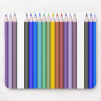 8774-coloured-pencils-2-vector RAINBOW COLORFUL PE Mouse Pad