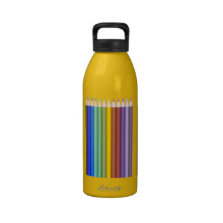 8774-coloured-pencils-2-vector RAINBOW COLORFUL PE Drinking Bottles