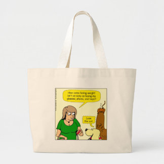 878 Lose my glasses cartoon Large Tote Bag
